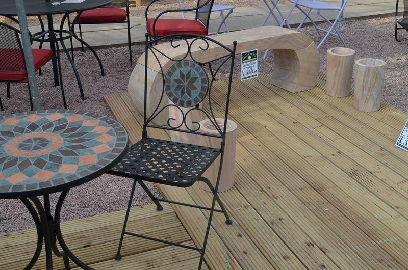 Sun Time Cairo Mosaic Table Bistro Set Greenacres Garden Centre