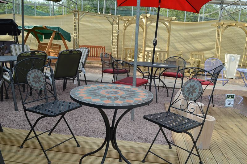 Picture of Sun Time Cairo Mosaic Table Bistro Set. Sun Time Cairo Mosaic Table Bistro Set   Greenacres Garden Centre