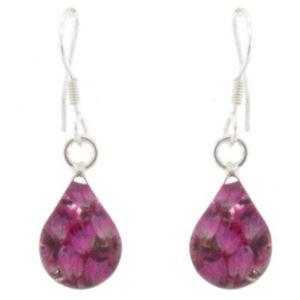 Picture of Shrieking Violet Teardrop Earrings