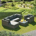 Picture of Sandringham L Shaped Sofa - Grey Rattan