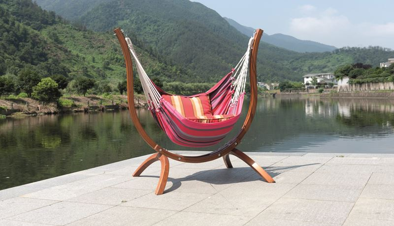 Picture of Patagonia Wooden Chair Hammock   Striped. Garden Furniture   Wooden Chair Hammock   Greenacres Garden Centre