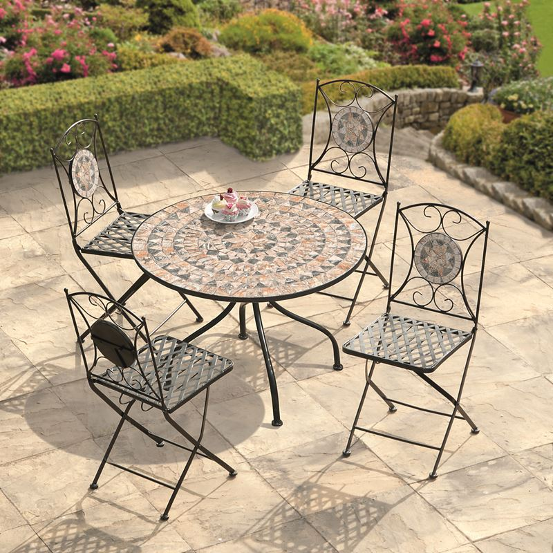 Garden Furniture Algiers Mosaic Dining Set Greenacres
