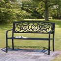 Picture of Welcome Cast Iron Bench