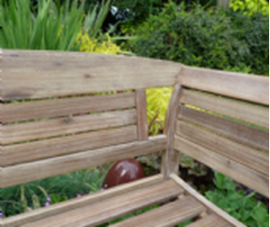 Picture of Copy of Hanoi Wood and Weave 2 seat Bench