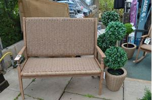 Picture of Hanoi Wood and Weave 2 seat Bench